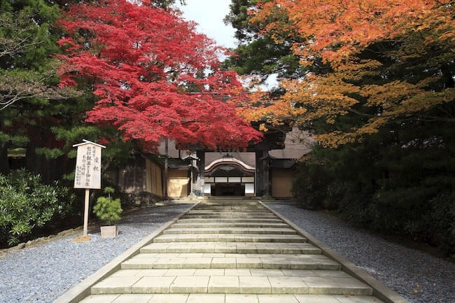 金剛峯寺の紅葉