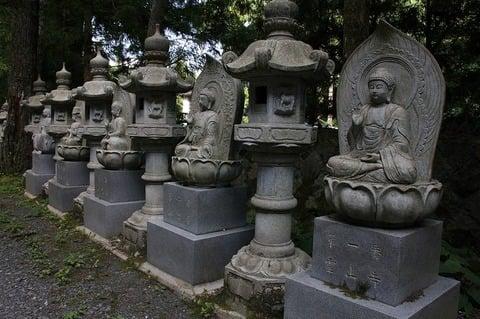 高野山奥の院にある四国八十八ヶ所の仏像