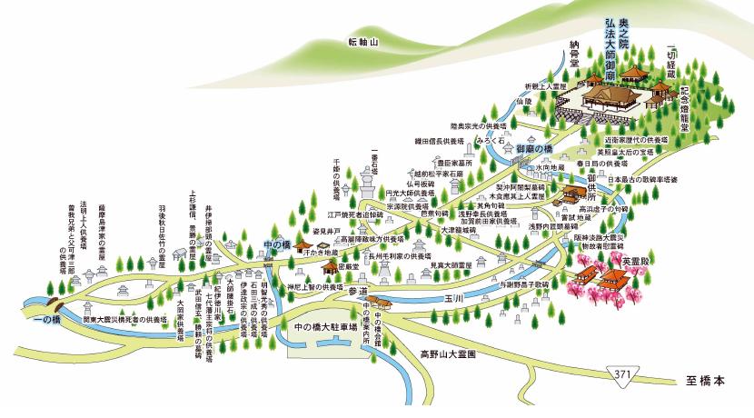 高野山奥の院マップ