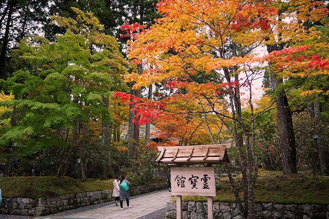 高野山霊宝館前