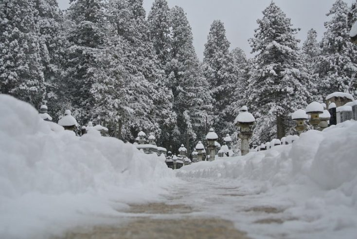 雪化粧の奥の院
