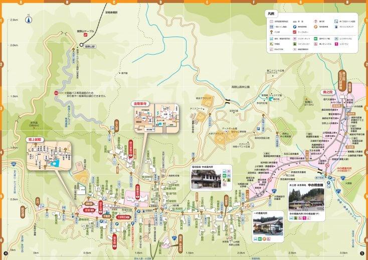 高野山の観光案内地図とスマートフォンアプリ